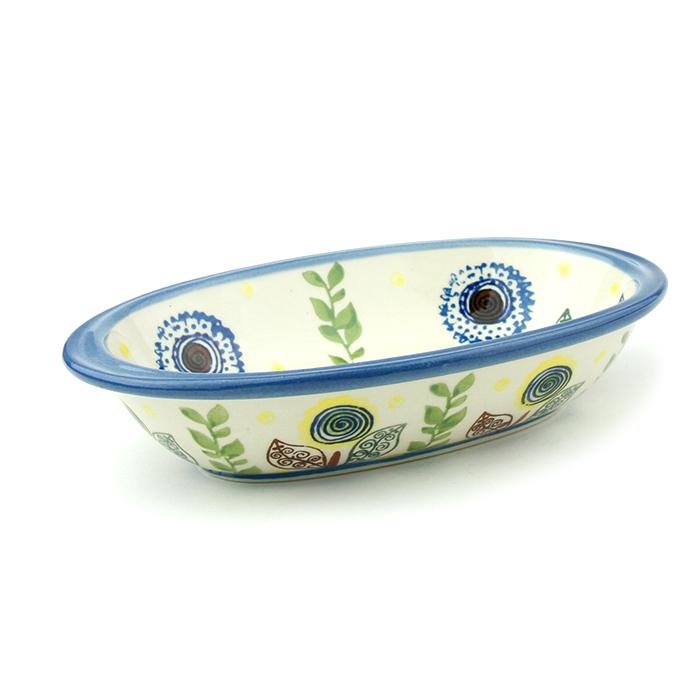 ポーランド陶器 オーブン皿・オーバル・S
