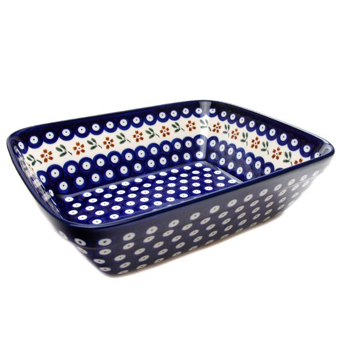 ポーランド陶器 オーブン皿・大