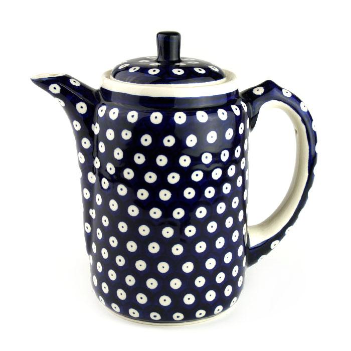ポーランド陶器 コーヒーポット・大