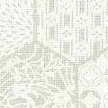 メラミン化粧板 バリエーション(京かたがみ) LJ-10101K 4x8 亀甲に小紋(白ねず)