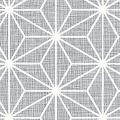 メラミン化粧板 バリエーション(京かたがみ) LJ-10141K 4x8 麻の葉(灰色)