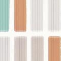 メラミン化粧板 バリエーション LJ-10165K 4x8 スリムタイル(オレンジミックス)