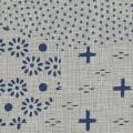 メラミン化粧板 バリエーション(京かたがみ) TJ-10099K 4x8 霞取り小紋(灰色)