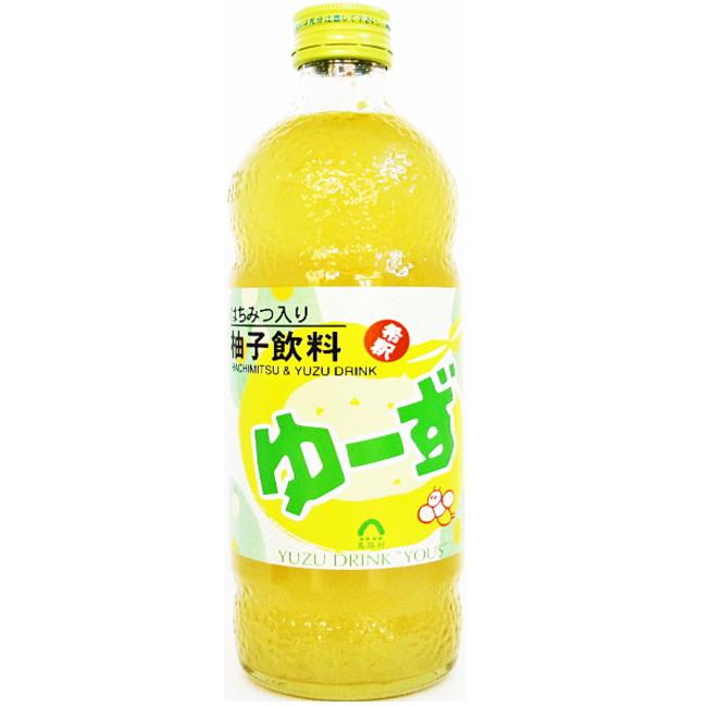 高知県馬路村 濃縮飲料 ゆーず ハチミツ入り500mL入り