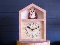 パンダの親子の時計