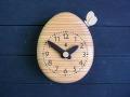 タマゴとチョウチョの時計(きなり)