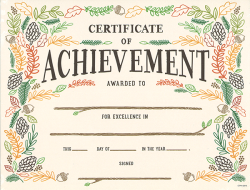 woodland friends certificate of achievement large award表彰状