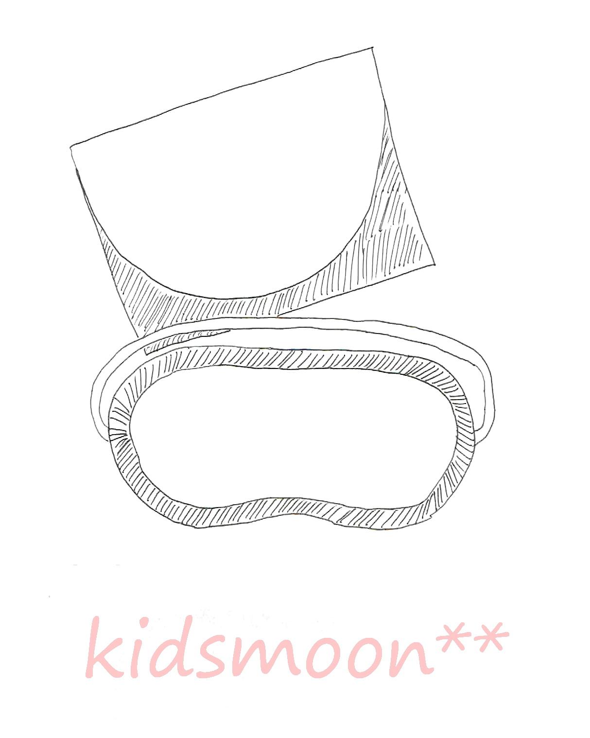 【生地材料お持ち込み】モンテッソーリ教育 目かくし 調音 ソルフェージュ お受験 アイマスク