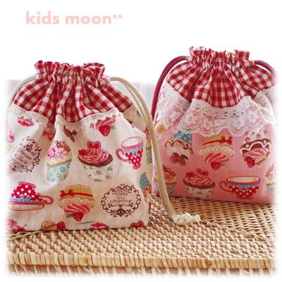 幼稚園保育園オーダーメイド入園グッズ【スイーツ・カップケーキ】お弁当袋 ランチバッグ 給食袋