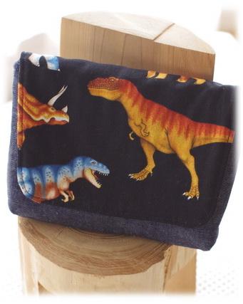 【リアルな恐竜】横入れお弁当ケース 封筒型お弁当入れ