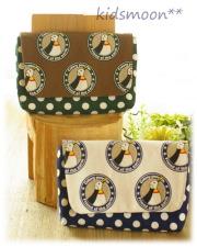 幼稚園保育園オーダーメイド入園グッズ【ペンギンさん】横入れお弁当ケース 封筒型お弁当入れ