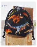 幼稚園保育園オーダーメイド入園グッズ【リアルな恐竜】コップ入れ 歯ブラシ袋 巾着袋
