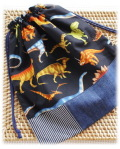 幼稚園保育園オーダーメイド入園グッズ【リアルな恐竜】おきがえ袋 体操着入れ 巾着袋