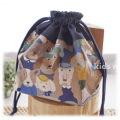 幼稚園保育園オーダーメイド入園グッズ【わんわんがいっぱい】お弁当袋 ランチバッグ 給食袋