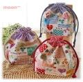 幼稚園保育園オーダーメイド入園グッズ【ドイリーハート】お弁当袋 ランチバッグ 給食袋
