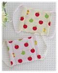 幼稚園保育園オーダーメイド入園グッズ【りんご・アップル】日本製ダブルガーゼ手作りマスク 2色セット