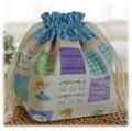 幼稚園保育園オーダーメイド入園グッズ【バレリーナパッチワーク】お弁当袋 ランチバッグ 給食袋