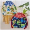 幼稚園保育園オーダーメイド入園グッズ【アニマルパーク】お弁当袋 ランチバッグ 給食袋