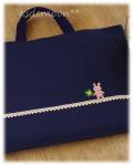 アウトレット品【クローバーウサギ】絵本入れ 手さげ袋 レッスンバッグ