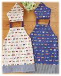 手作り幼稚園保育園小学校給食エプロン三角巾可愛いお洒落男の子用