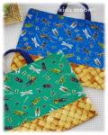 幼稚園保育園オーダーメイド入園グッズ【昆虫図鑑】絵本入れ 手さげ袋 レッスンバッグ