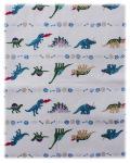 【恐竜の大行進】お昼寝布団カバーセット(かけ布団カバー+敷き布団カバー)サイズオーダー費込