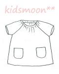 【生地材料お持ち込み】半袖スモック 襟ゴム ラグラン袖 かぶりスモック 日本製 オーダーメイド