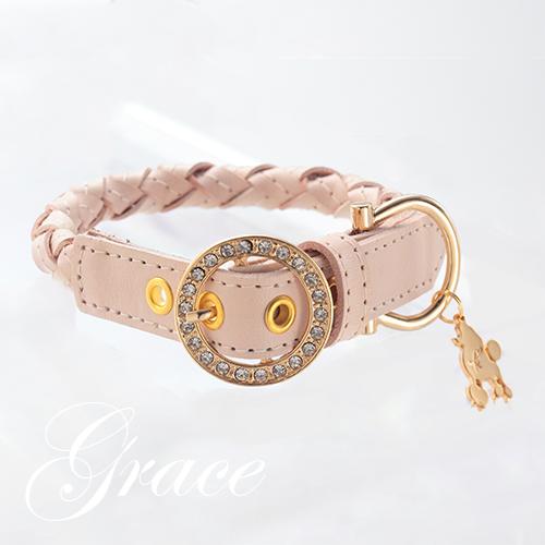 【アウトレット 50%OFF】【Grace】首輪 ベージュ ML,L