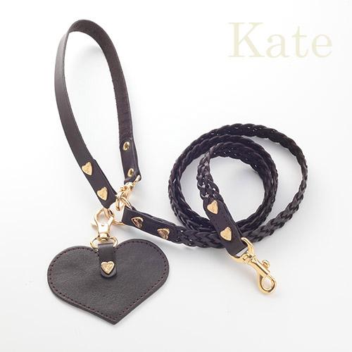 【Kate】リード ダークブラウン 首輪S,M用