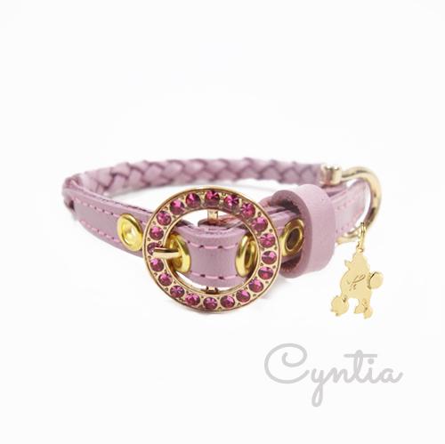 【Cyntia】首輪 ダスティピンク M STPK2(1センチ幅)