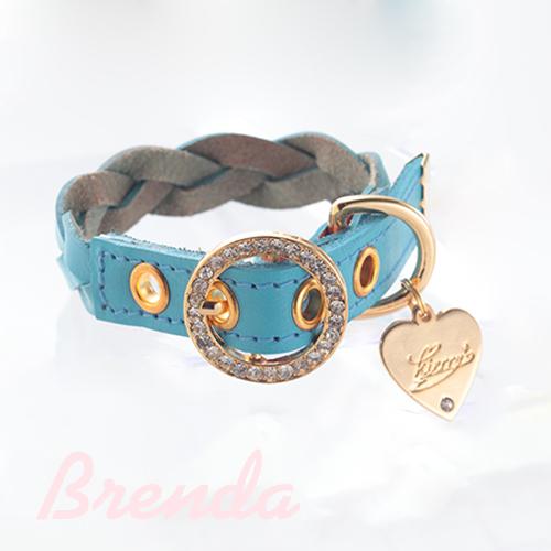 【アウトレット】【Brenda】首輪 ライトブルー S,M