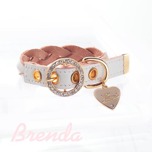 【アウトレット】【Brenda】首輪 ホワイト S,M