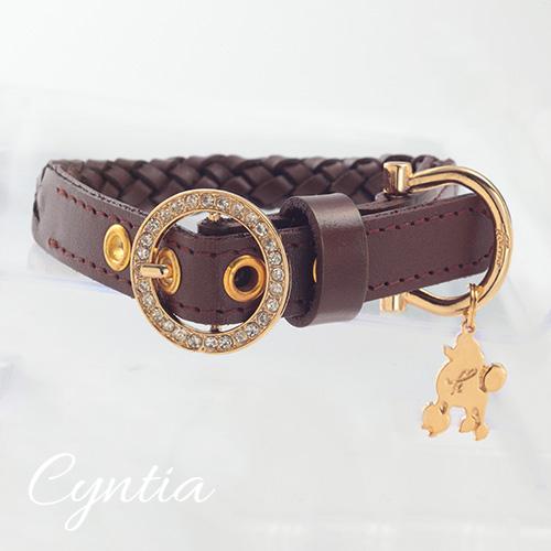 【アウトレット 40%OFF】【Cyntia】首輪 チョコレートブラウン ML