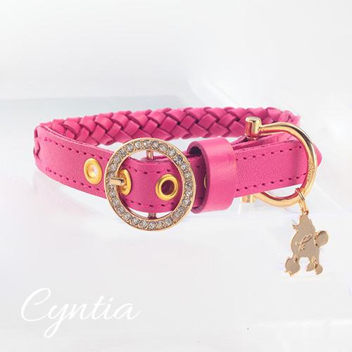 【Cyntia】首輪 ショッキングピンク M