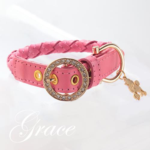 【アウトレット 50%OFF】【Grace】首輪 ピンク ML,L