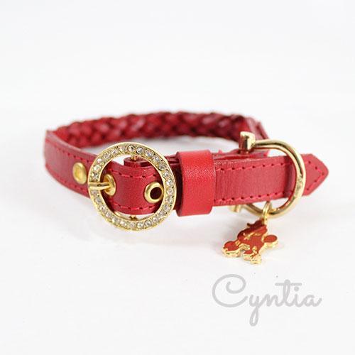 犬 首輪 リード Cyntia 2nd レッド