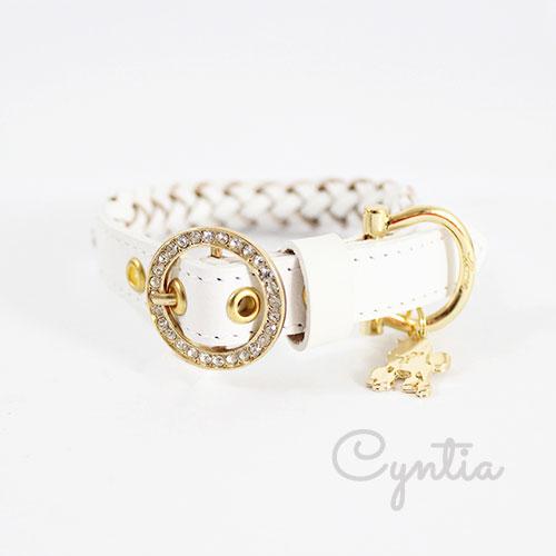 犬 首輪 リード Cyntia 2nd  ホワイト