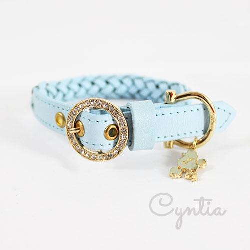 犬 首輪 リード Cyntia 2nd  ライトブルー