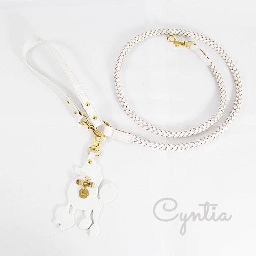犬 リード Cyntia 2nd  ホワイト