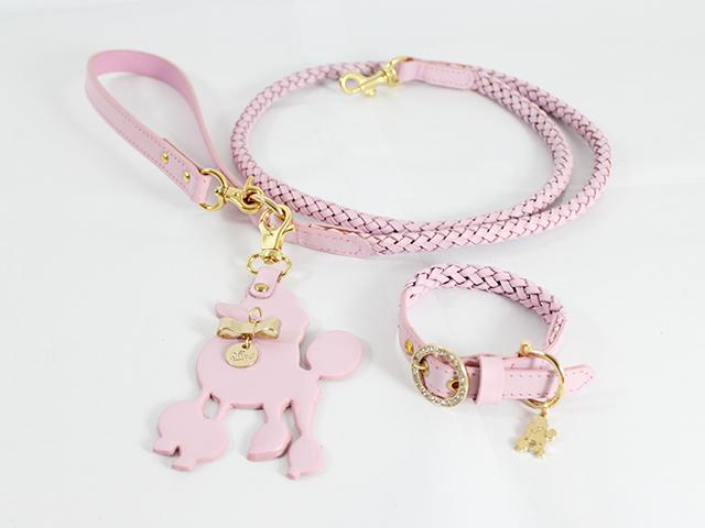犬 リード 首輪 Cyntia 2nd  ピンク