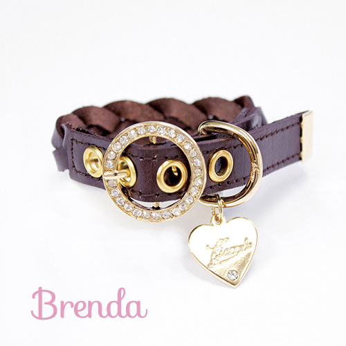【Brenda】首輪 ブラウン S,M