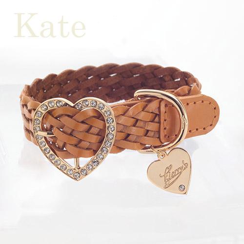 【Kate】首輪 キャメル S