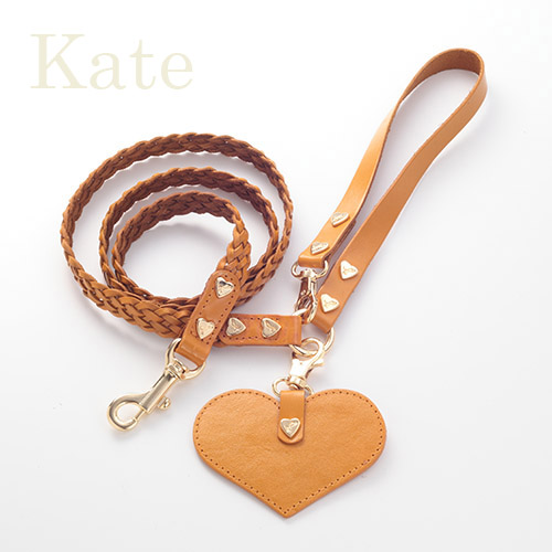 【Kate】リード キャメル 首輪S,M用