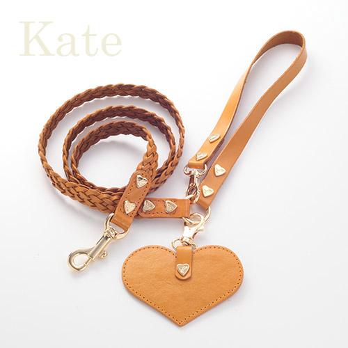 【Kate】リード キャメル 首輪ML,L,XL用
