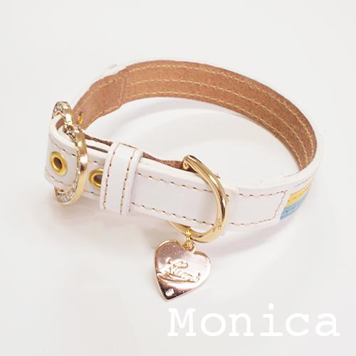 【Monica】首輪 マルチカラー(イエロー) ML,L