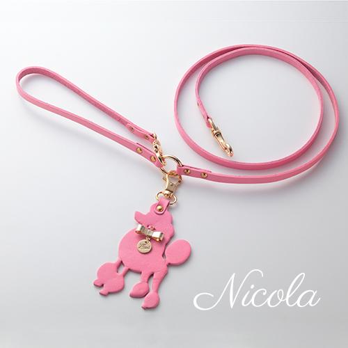 【Nicola】リードピンク 首輪SS,S,M用