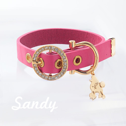 【Sandy】首輪 ショッキングピンク ML