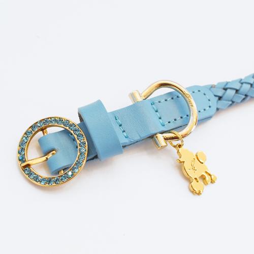犬 首輪 ブルー