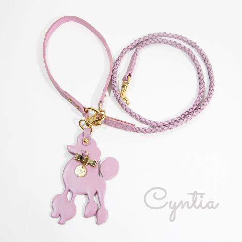 【Cyntia】リード ダスティピンク STPK2(1センチ幅)首輪S,M用