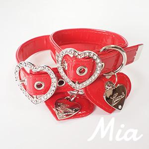 【アウトレット】【Mia】首輪 レッド S~XL